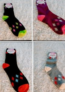 Four pair Decorated Socks